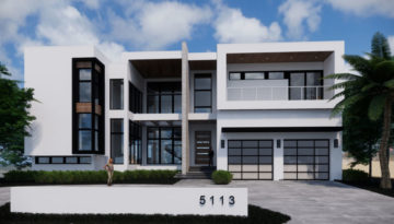 South Tampa Sunset Park Waterfront Contemporary